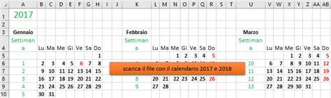 Calendario 2018 Excel Modificabile Creare Un Calendario Personalizzato Con Excel Come