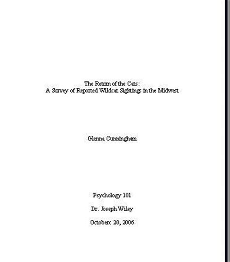 report title page sle sle pages in mla format