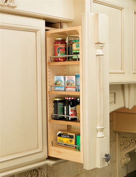 Kitchen Cabinet Filler by Rev A Shelf Filler Pull Out Organizer With Wood