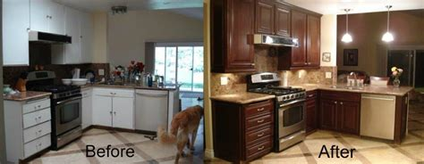 refacing kitchen cabinets before and after before and after cabinet refacing cabinet wholesalers
