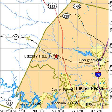 liberty hill texas map liberty hill texas tx population data races housing economy