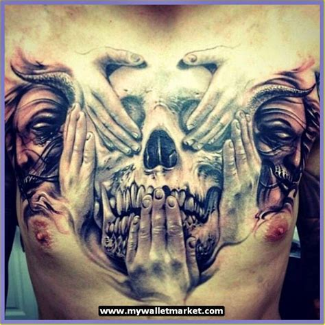 tattoo chest skull awesome tattoos designs ideas for men and women amazing