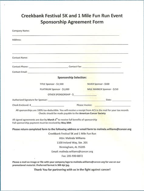 Leeds Acceptance Letter Sponsorship Form Template Out Of Darkness