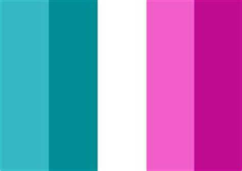 whimsical mermaid this color palette pink fuschia teal turquoise white design