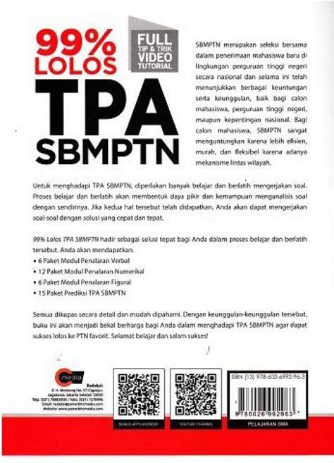 Buku Sbmptn Soshum 2018 Plus Cd bukukita 99 lolos tpa sbmptn plus cd