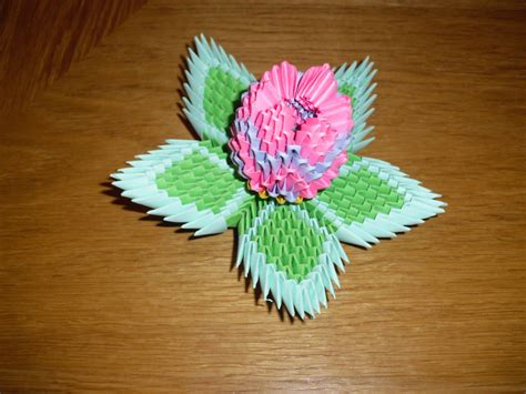 How To Make A 3d Flower With Paper - 3d origami lotus flower by justtree on deviantart