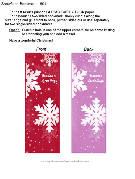 printable xmas bookmarks free printable christmas snowflake bookmarks