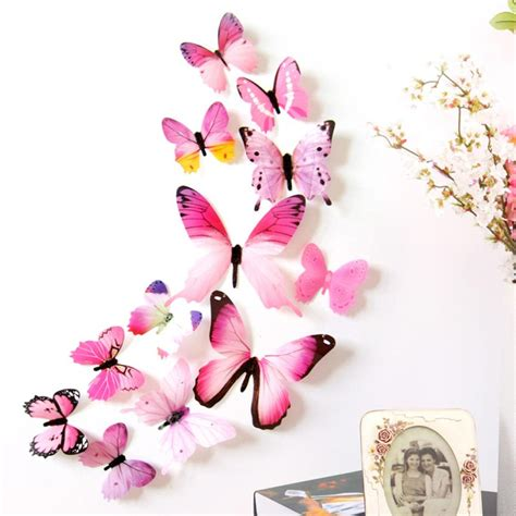 Stiker Kulkas 1 Pintu Minnie Pink by 12pcs Colorfull Decal Wall Stickers Home Decorations 3d