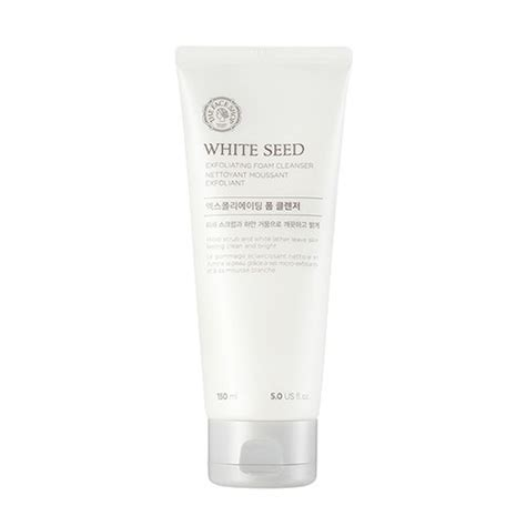 the shop white seed exfoliating foam cleanser 150ml