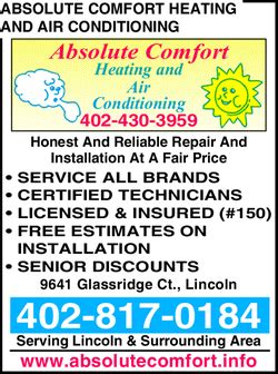 absolute comfort heating air conditioning absolute comfort heating and air conditioning lincoln ne