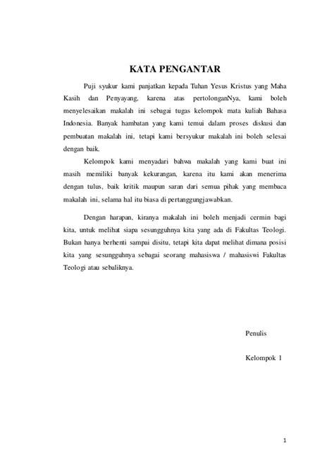 contoh kata pengantar membuat makalah bahasa indonesia makalah bahasa indonesia