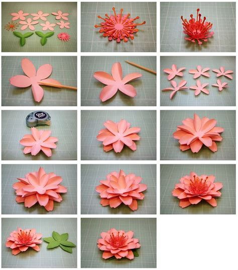 How To Make A 3d Paper Flower - daffodil and cherry blossom 3d paper flowers fiori di