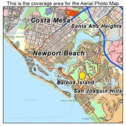 aerial photography map of newport ca california