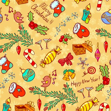 cute holiday pattern cute christmas seamless pattern vector 05 vector