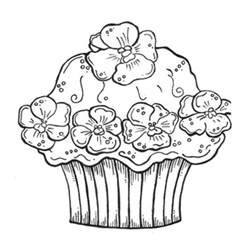 of cupcakes free coloring pages on art coloring pages