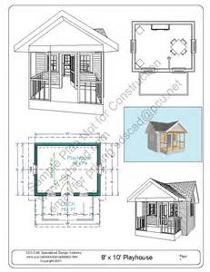 build house plans free free playhouse plans blueprints construction drawings pdf