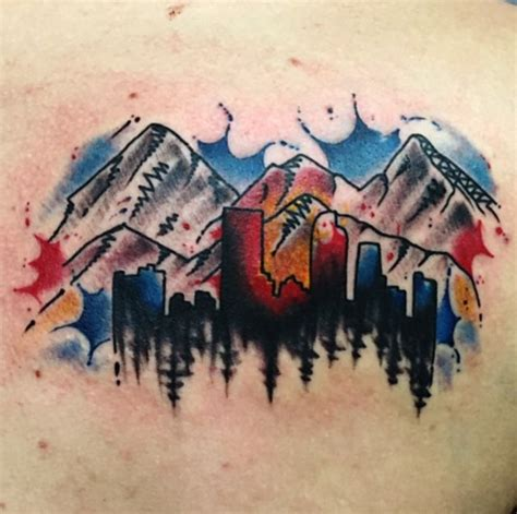 colorado mountains tattoo 25 best colorado ideas on nature