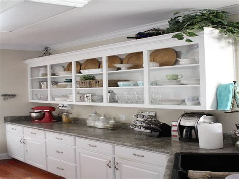 open cabinets kitchen ideas bloombety inspiring open shelving in kitchen open
