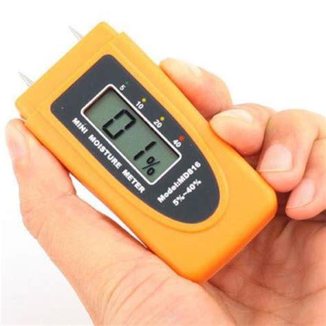 Ukur Kelembaban Material Kayu Digital 4 Pin Moisture Meter Tester jual mini portable lcd digital wood moisture meter detector tester 5 40 fw22
