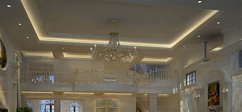 3d rendering of ceiling lights living room neoclassical