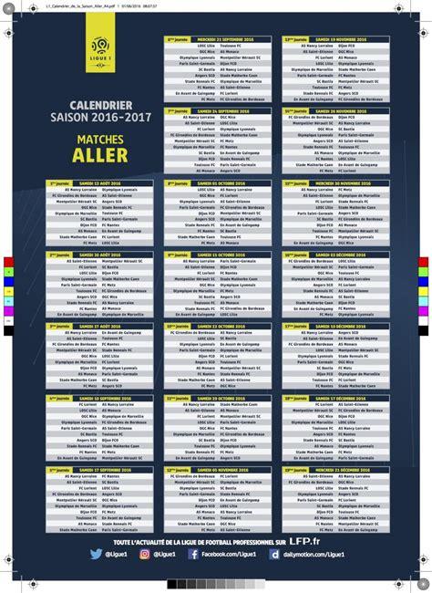 Calendrier Ligue 1 2016 Angers L1 Le Calendrier De La Saison 2016 2017 Est Sorti