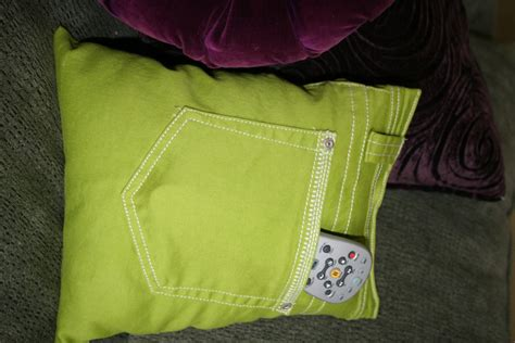 Pillow With Pocket by Recycled Tv Remote Pocket Pillow