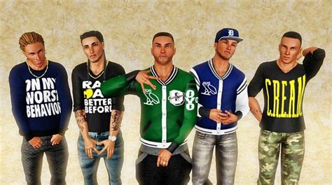 sims 3 urban clothes random urban jackets and tops by livingcolorsims sims 3