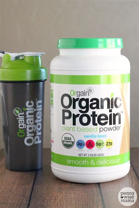 tropical breakfast smoothie with orgain organic protein giveaway the pennywisemama - Protein Powder Giveaway