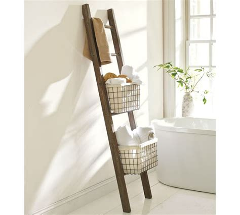 Bathroom Storage Ladder Charm Bracelet At Home Diy Pottery Barn Bath Storage Ladder