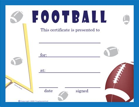 football certificate templates free free football certificates certificate free football