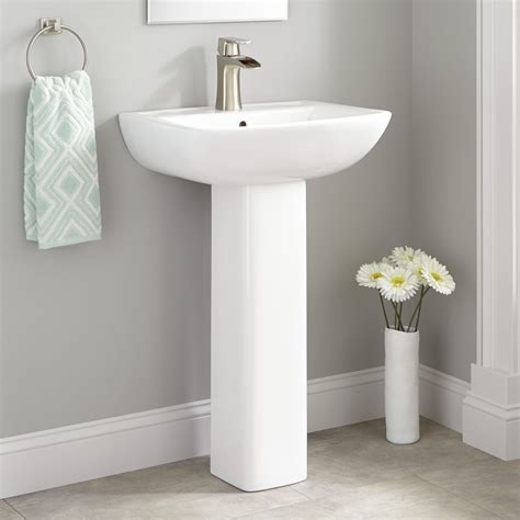 The Sink by Kerr Porcelain Pedestal Sink Bathroom