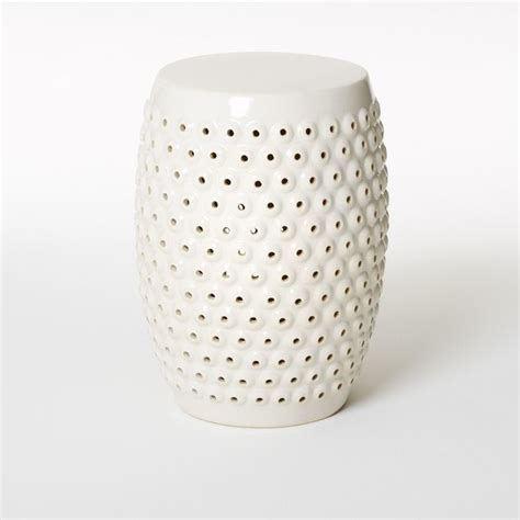 Ceramic Accent Table | bubble ceramic side table contemporary side tables and