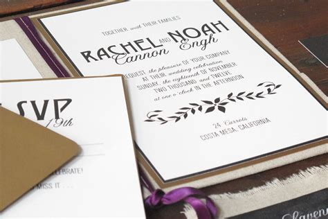 Linen Paper Wedding Invitations by Eco Industrial Chalkboard Linen Wedding Invitations