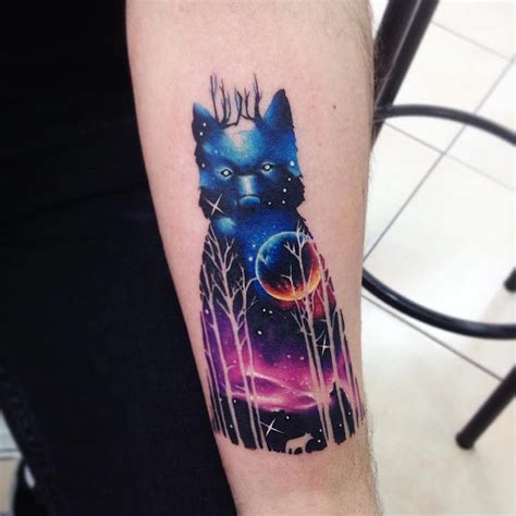 vibrant animal tattoos twinkle with spectacular colors of