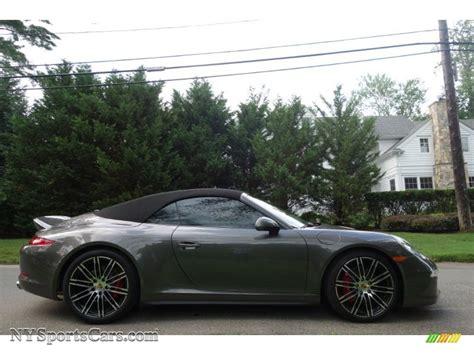 grey porsche 911 convertible 2015 porsche 911 4s cabriolet in agate grey
