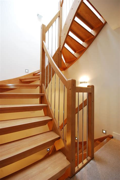 wooden stair case bespoke wooden stair west london timber stair