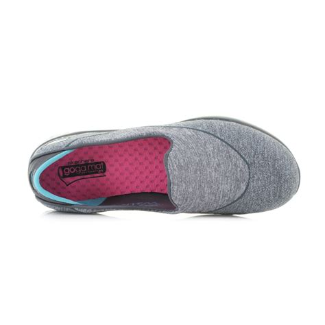 New Skechers Go Flex Blue womens skechers go flex charcoal blue lightweight activity slip on shoes size