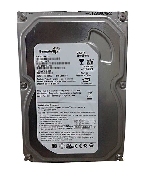 Hdd Pc 160gb seagate 160gb id hdd desktop buy seagate 160gb id hdd desktop at low price in india