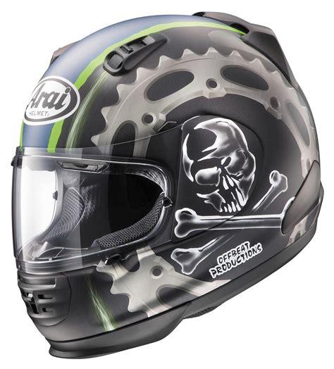 Log Garage Designs arai defiant jolly roger helmet revzilla