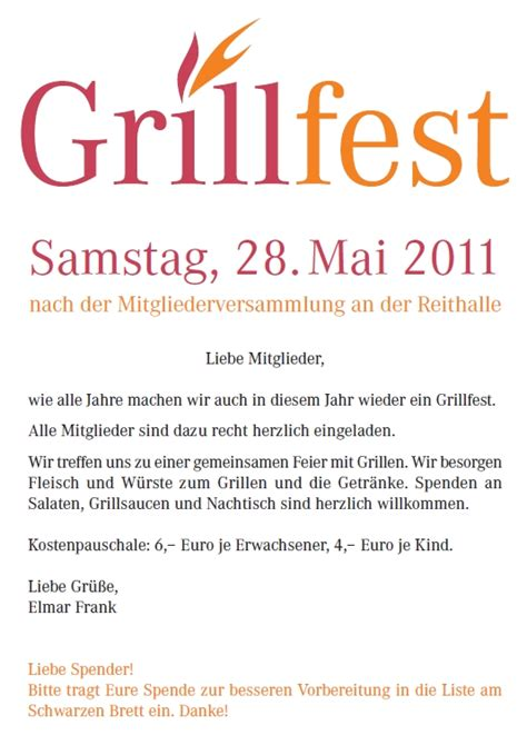 einladungstext fur grillfest einladungstext fur grillfest