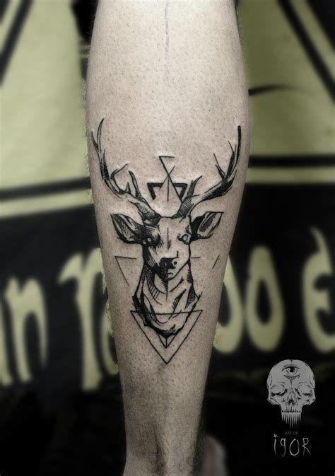 stag tattoo 35 stunning stag and deer designs