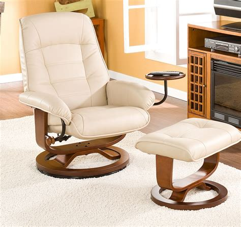 euro chair with ottoman euro style recliner and ottoman in taupe leather