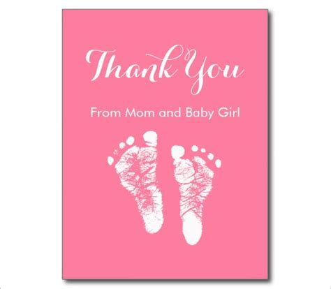 Free Thank You Card Templates Baby Shower by 24 Thank You Card Designs Psd Ai Free Premium