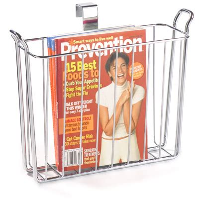 magazine holder for bathroom classico overtank magazine holder the container store