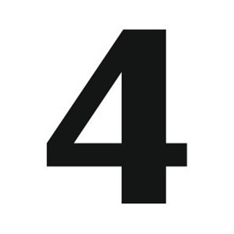 sticker chiffre 4 pour coller sur votre voiture ou moto