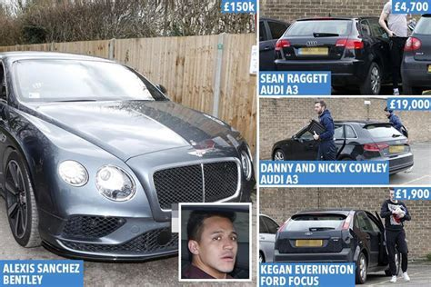 alexis sanchez car alexis sanchez s luxury bentley totals more than the