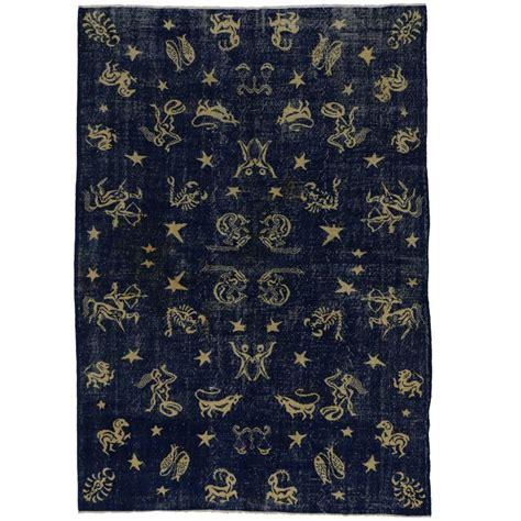 industrial rug distressed vintage turkish sivas zodiac rug with modern industrial style at 1stdibs