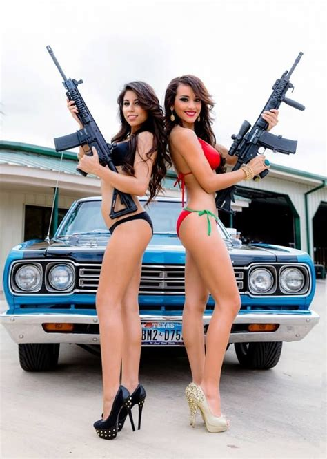 Ass Auto by Hot Girls Guns And Nice Cars Doesn T Get Much Better