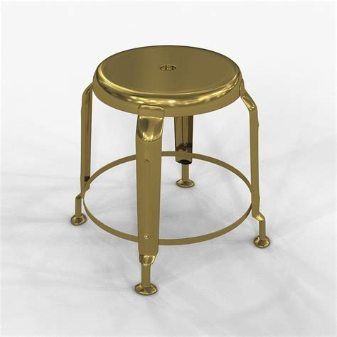 Stool Define by Stool Define Gold By Doctor House 3d Model Max Cgtrader