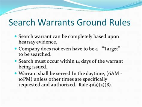 What Is A Search Warrant Responding To Grand Jury Subpoenas Search Warrants